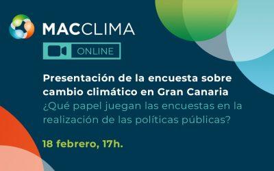 Presentación encuesta cambio climático Gran Canaria